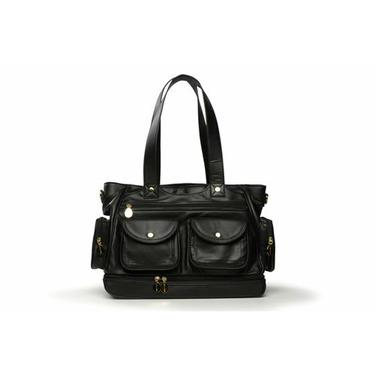 North South Diaper Bag in Black