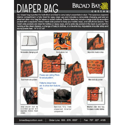 DOGS Diaper Bag - Baby Bag for New Dad Father or Mom NEW Mother Baby Shower Gift Idea
