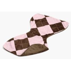 Gentle Kids wear Bbc - Ap- B Baby Burp Cloth - Argyle Pink and Brown