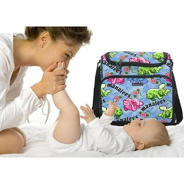 CUTE Manatee Diaper Bag - Baby Bag for New Dad Father or Mom NEW Mother Baby Shower Gift Idea