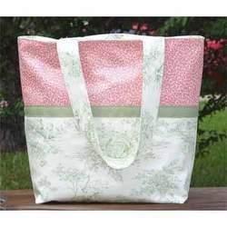 Laminated Diaper Bag - Green Toile