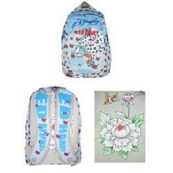 Christian Audigier Ed Hardy Backpack Baby Blue Campus Bag DB-BG-003