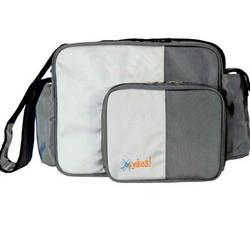 O Yikes Messenger Diaper Bag - Frosted Titanium
