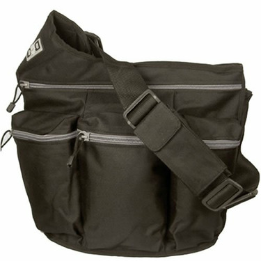 Diaper Dude Messenger Diaper Bag in Black