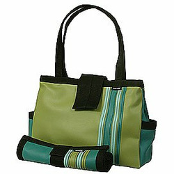 Avocado Bomber Diaper Tote with Changing Pad