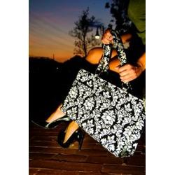 Wipeable Black Embellished Diaper Bag