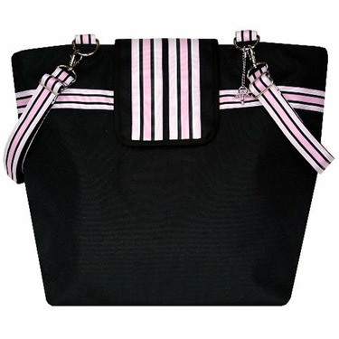 Black Baby Pink Cambridge Diaper Bag