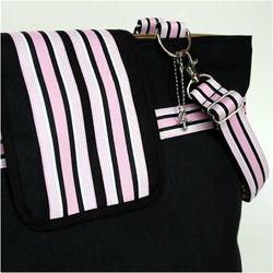 Black Baby Pink Cambridge Diaper Bag