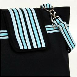 Black Baby Blue Cambridge Diaper Bag