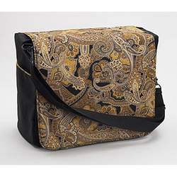 Hygeia Deluxe Paisley Messenger Diaper Bag w/Changing Pad