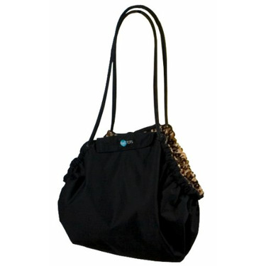 Go Mama Go Designs The Chameleon Convertible Carry All Bag, Black Leopard Print