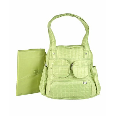"""Graco """"Flair"""" Quilted Diaper Tote - green, one size"""