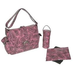 Peggy Paisley Watermelon Laminated Buckle Diaper Bag