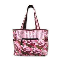 Tulip Tote Diaper Bag- Swirl