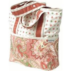 Hoohobbers Designer Tote Diaper Bag Paisley