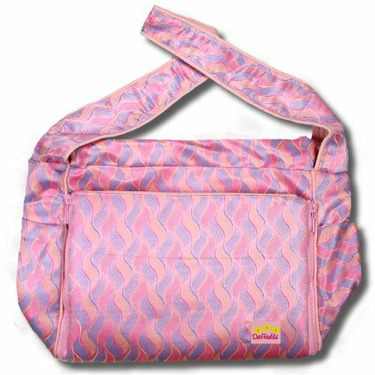 Pink Waves Silk Boutique Diaper Bag
