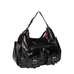 Amy Michelle Sweet Pea Slouch Diaper Bag Diaper Bags, Black