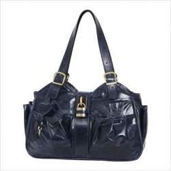 Mia Bossi MB214 Caryn Diaper Bag in Sapphire Blue