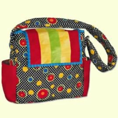Color Box Quilted Diaper Bag