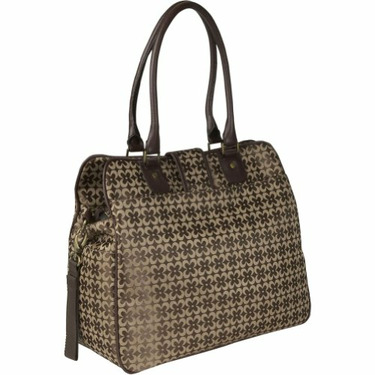 Gladiola Diaper Bag in Chocolate Jacquard by Amy Michelle