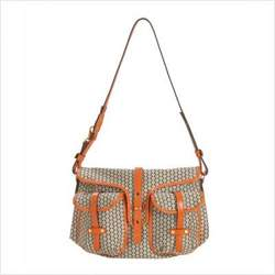 Mia Bossi MB503 Reese Messenger Diaper Bag in Tangerine Orange