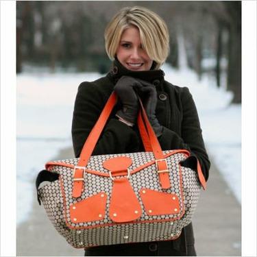 Mia Bossi MB115 Maria Diaper Bag in Chocolate Brown