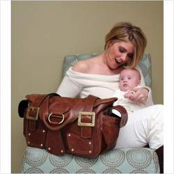 Mia Bossi MB115 Maria Diaper Bag in Chocolate Brown