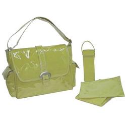 Avocado Corduroy Laminated Buckle Diaper Bag