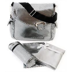 Kalencom Calypso Buckle Diaper Bag - Black/White