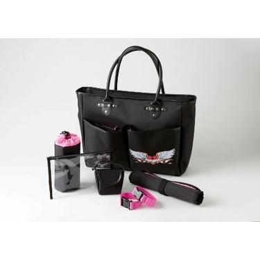 Jett's Designer Bebe Mi Amour Black Diaper Bag