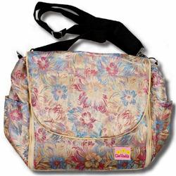 Gold Flowers Silk Boutique Diaper Bag