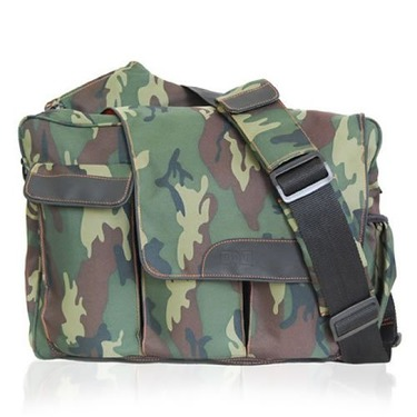 Camo Messenger Diaper Bag with Flap
