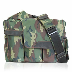 Camo Messenger Diaper Bag with Flap