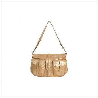 Mia Bossi MB501 Reese Messenger Diaper Bag in Sahara Brown