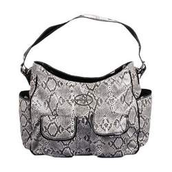 Baby Phat Faux Snakeskin Diaper Tote - gold, one size