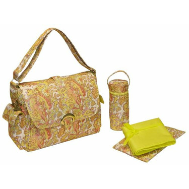 A Step Above Buckle Diaper Bag in Venice Yellow