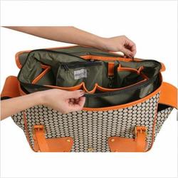 Mia Bossi MB311 Alisa Diaper Bag in Tangerine Orange