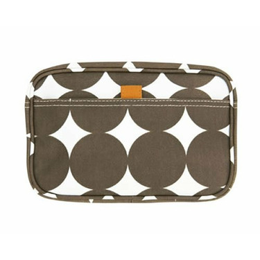 Small Travel Case in Chocolate Dots