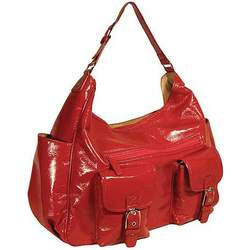 Amy Michelle Sweet Pea Slouch Diaper Bag Diaper Bags, Red
