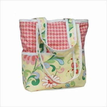 Hoohobbers Personalized Diaper Bag Tote Personalized Diaper Bag Tote in Flirty Flower