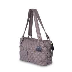 Baby Kaed Avi-U Diaper Bag in Pewter and Black