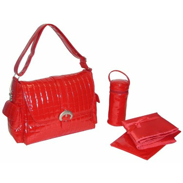 Monique Diaper Bag in Red