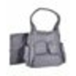 """Graco """"Flair"""" Quilted Diaper Tote - gray, one size"""