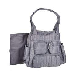 "Graco ""Flair"" Quilted Diaper Tote - gray, one size"