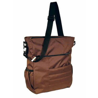 Madison Avenue Diaper Bag - Chocolate with Periwinkle Lining