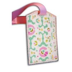 Travel Accessories Amy Butler Fabric Bag Tag with Vinyl Pocket, Id Card, and Snap Closure