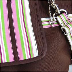 Cocoa Blush Stripe Diaper Bag