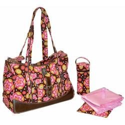 Weekender Diaper Bag in Flower Power Pink