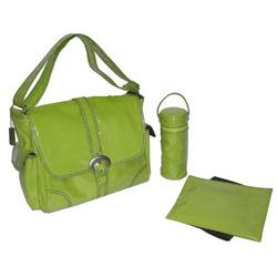 Kiwi Corduroy Laminated Buckle Diaper Bag