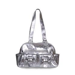 Sheri Diaper Bag in Silver